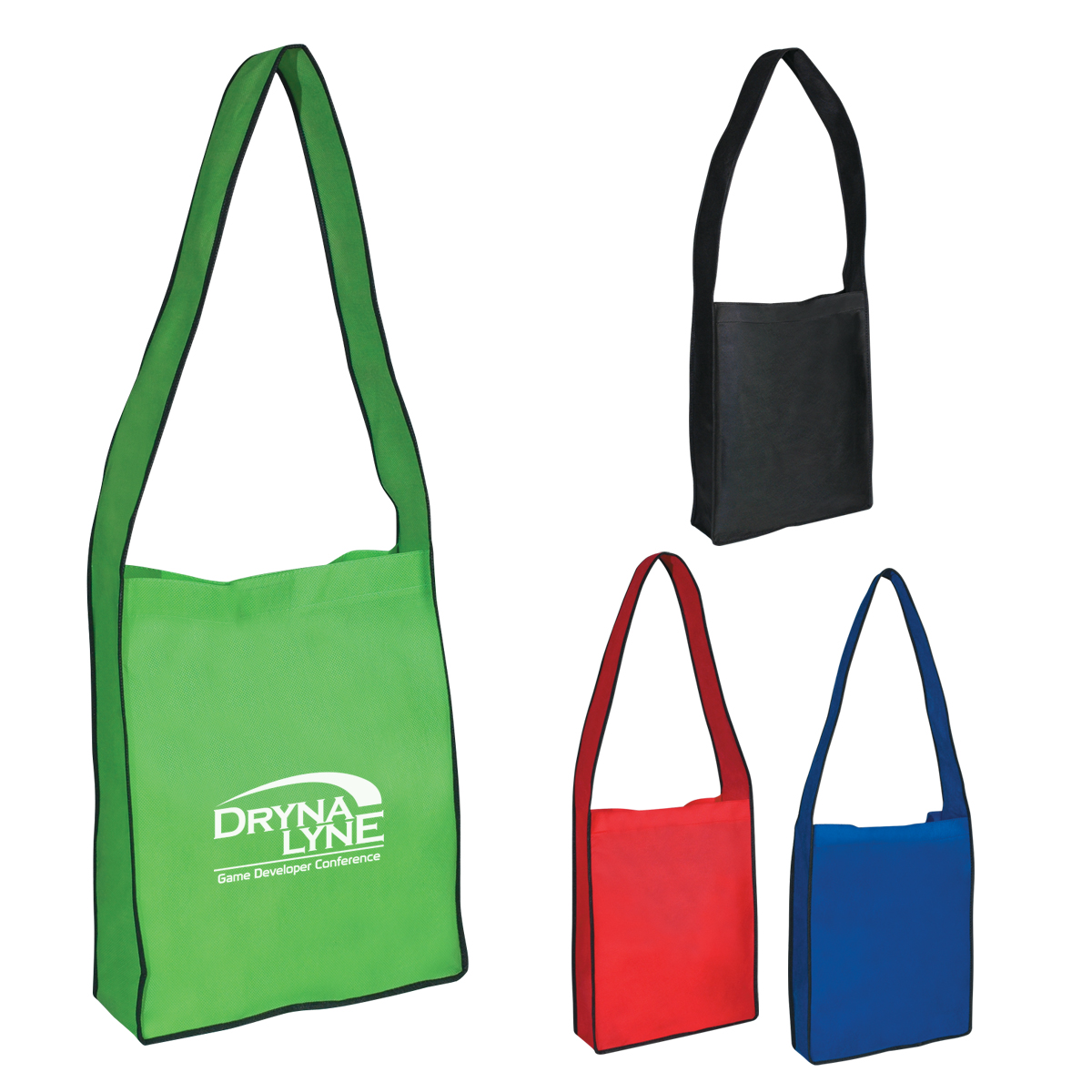 #CM 3367 Non-Woven Messenger Tote Bag With Hook And Loop Closure