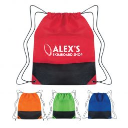 #CM 3384 Non-Woven Two-Tone Drawstring Sports Pack