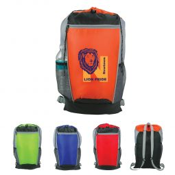 #CM 3429 Tri-Color Drawstring Backpack