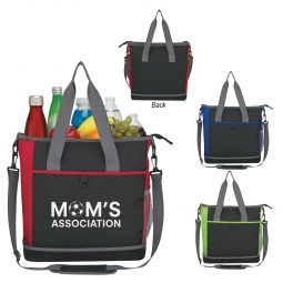 #CM 3566 Hard-Bottom Shopping Kooler Tote Bag