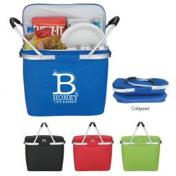 #CM 3579 Picnic Fun Collapsible Kooler Basket