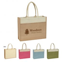 #CM 3617 Jute Tote Bag With Front Pocket