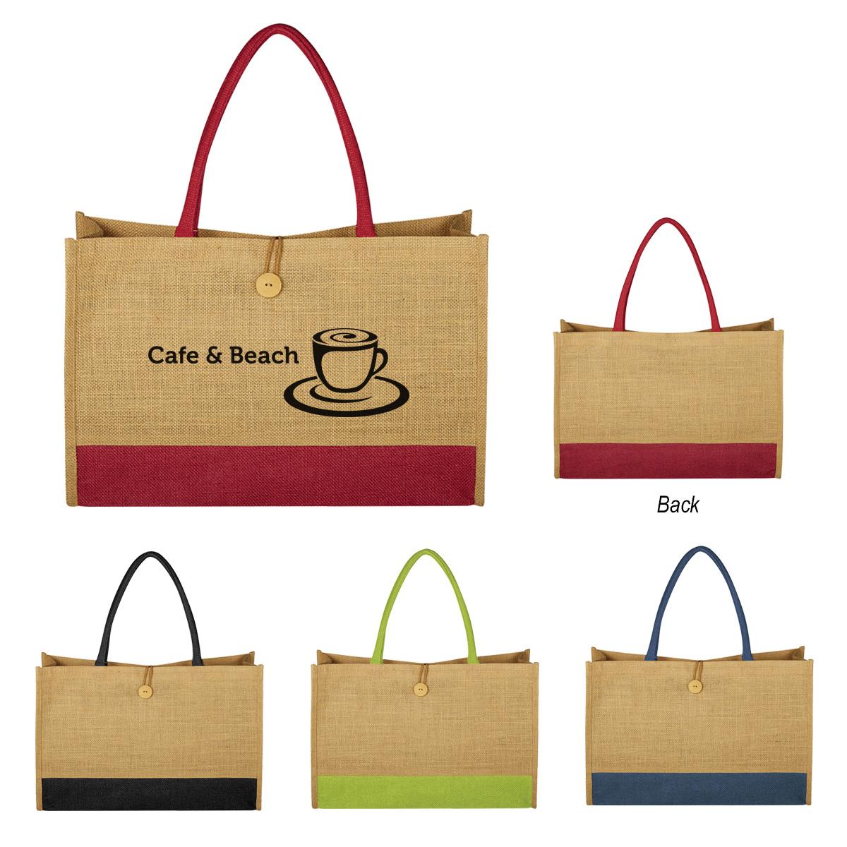 #CM 3623 Jute Box Tote Bag