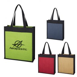 #CM 3624 Laminated Jute Tote Bag