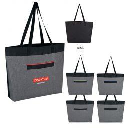 #CM 3635 Heathered Tote Bag