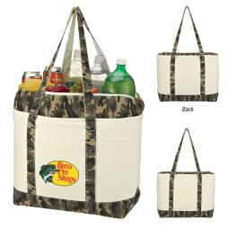 #CM 3719 Camo Canvas Kooler Tote Bag