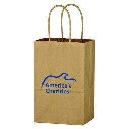 "#CM 3900 Kraft Paper Brown Shopping Bag - 5-1/4"" x 8-1/4"""