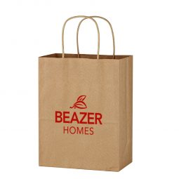 "#CM 3901 Kraft Paper Brown Shopping Bag - 8"" x 10-1/4"""