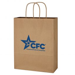 "#CM 3902 Kraft Paper Brown Shopping Bag - 10"" x 13"""