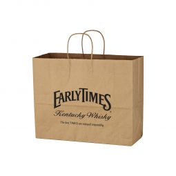 "#CM 3903 Kraft Paper Brown Shopping Bag - 16"" x 12-1/2"""