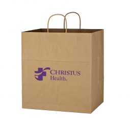 "#CM 3905 Kraft Paper Brown Shopping Bag - 14"" x 15"""