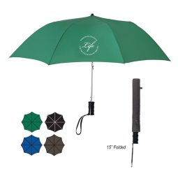 "#CM 4022 - 36"" Arc Telescopic Folding Automatic Umbrella"