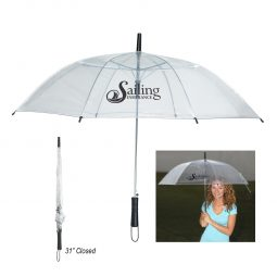 "#CM 4035 - 46"" Arc Clear Umbrella"