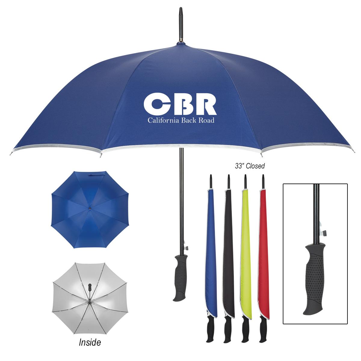 "#CM 4128 - 48"" Arc Silver Accent Umbrella"