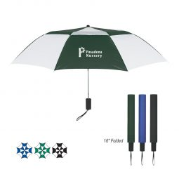 "#CM 4132 - 44"" Arc Telescopic Folding Vented Umbrella"