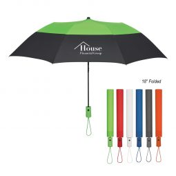 "#CM 4133 - 46"" Arc Color Top Folding Umbrella"