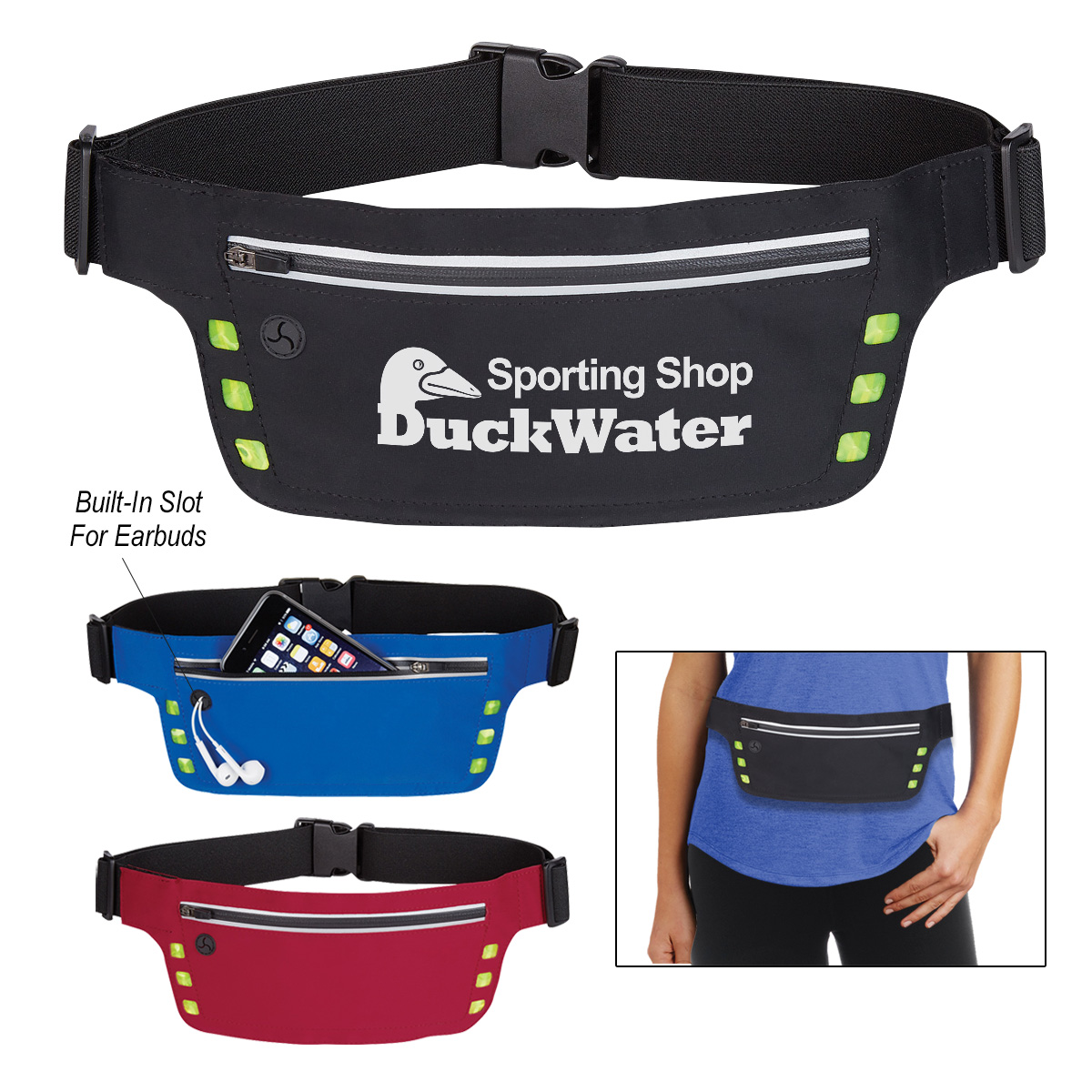 #CM 4206 Running Belt With Safety Strip And Lights