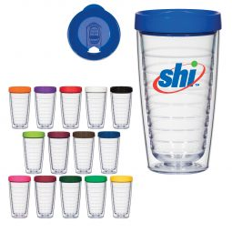#CM 5713 - 16 Oz. Hydro Double Wall Tumbler With Lid