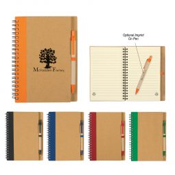 #CM 6100 Eco-Inspired Spiral Notebook & Pen