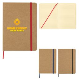 "#CM 6101 - 5"" x 7"" Eco-Inspired Strap Notebook"
