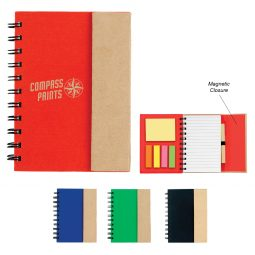 #CM 6106 Small Spiral Notebook With Sticky Notes And Flags