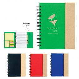 #CM 6107 Spiral Notebook With Sticky Notes And Flags