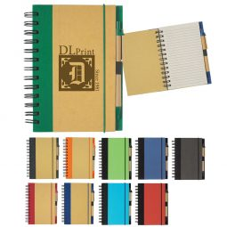 "#CM 6109 Eco-Inspired 5"" x 7"" Spiral Notebook & Pen"