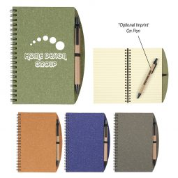 "#CM 6115 - 5"" x 7"" Eco-Inspired Spiral Notebook & Pen"
