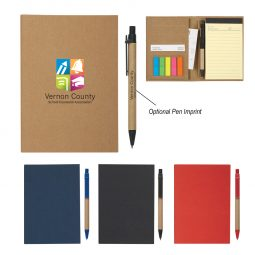 #CM 6121 MeetingMate Notebook With Pen And Sticky Flags