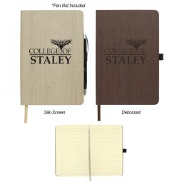 "#CM 6125 - 5"" x 8"" Woodgrain Look Notebook"