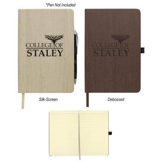 "#CM 6125 - 5"" x 8"" Woodgrain Look Notebook"