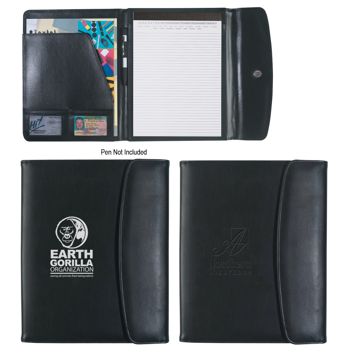 "#CM 6404 Leather Look 8 ½"" x 11″ Portfolio 1"
