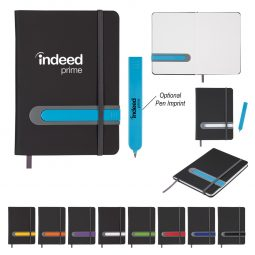 "#CM 6449 - 5"" x 7"" Parallel Journal And Pen Set"