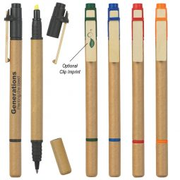#CM 662 Dual Function Eco-Inspired Pen With Highlighter