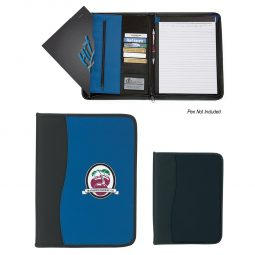 #CM 6630 Large Microfiber Portfolio With Embossed Pvc Trim