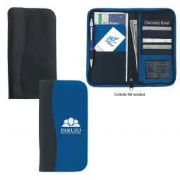 #CM 6637 Microfiber Travel Wallet With Embossed PVC Trim