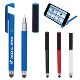 #CM 909 Stylus Pen With Phone Stand And Screen Cleaner