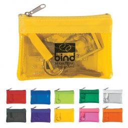 #CM 9480 Translucent Zippered Coin Pouch