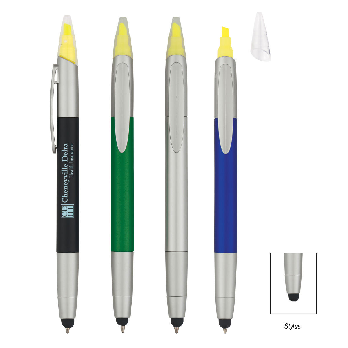 #CM 992 - 3-In-1 Pen With Highlighter and Stylus