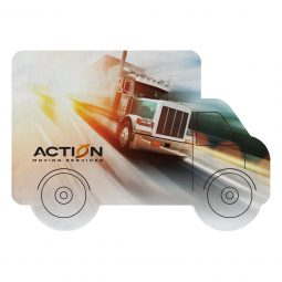 #CM COASTER-TRK Dye Sublimated Truck Shaped Coaster