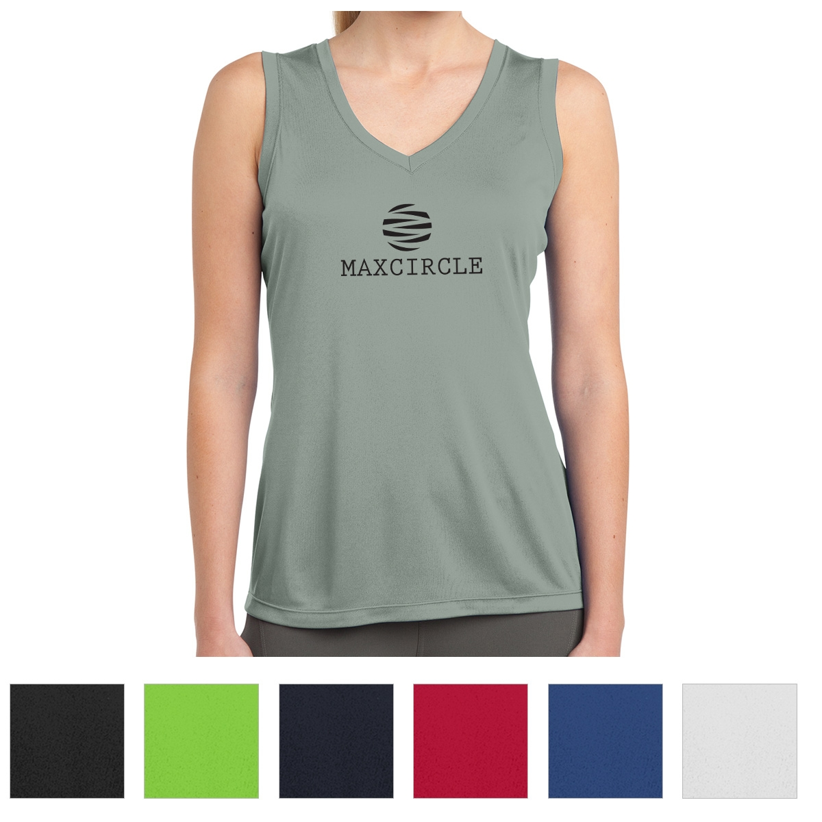 a750792b37cc08  CM LST352 SPORT-TEK® LADIES  SLEEVELESS POSICHARGE® COMPETITOR™ V-NECK TEE